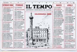 Calendarietto - Il Tempo - Quotidiano Indipendente Del Mattino 1986 - Formato Piccolo : 1981-90