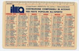 Calendarietto - Ilna - Costruzione Componibili In Acciaio Per Feste Popolare All´aperto - Argenta 1989 - Calendarios