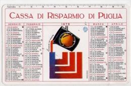 Calendarietto - Cassa Di Risparmio Puglia 1976 - Calendari