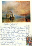 JMW Turner - Fighting Temeraire Art Painting, Ireland Postcard Posted 1975 Stamp - Other