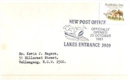 (PH 53) Australia Special Postmark Cancel - 1981 - Lakes Entrance Post Office - American Samoa