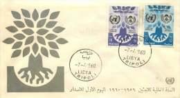 1960  Année Mnodiale Des Réfugiés  FDC - Libye
