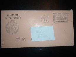 LETTRE OBL.MEC. 16-2-1976 LILLE RP (59 NORD) + ADMINISTRATION DE LA POLICE - Marcophilie (Lettres)
