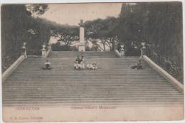 AK - Gibraltar - Kinder Sitzén Beim General Elliott`s Monument Um 1900 - Gibraltar