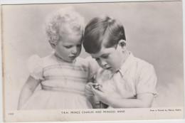 AK - Prince Charles Und Princess Anne Als Kinder 1953 - Persönlichkeiten
