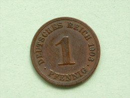 1903 A - 1 Pfennig / KM 10 ( Uncleaned Coin - For Grade, Please See Photo ) !!