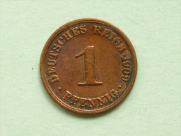 1909 A - 1 Pfennig / KM 10 ( Uncleaned Coin - For Grade, Please See Photo ) !! - [ 2] 1871-1918: Deutsches Kaiserreich