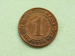 1935 A - 1 Reichspfennig / KM 37 ( Uncleaned Coin - For Grade, Please See Photo ) !! - [ 3] 1918-1933 : Weimar Republic