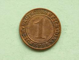 1935 A - 1 Reichspfennig / KM 37 ( Uncleaned Coin - For Grade, Please See Photo ) !! - [ 3] 1918-1933 : República De Weimar