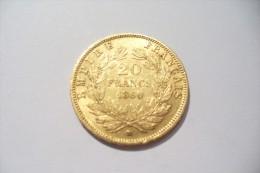 JOLIE 20 FRS  OR  - NAPOLEON III  1860 BB   - TTB/SUP  !!!  A Saisir - Oro