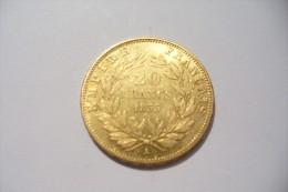 JOLIE 20 FRS  OR  - NAPOLEON III  1855 A   - TTB/SUP  !!!  A Saisir - Oro