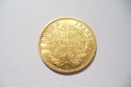 JOLIE 20 FRS  OR  - NAPOLEON III  1853 A   - TTB/SUP  !!!  A Saisir - Oro