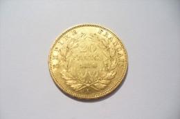 JOLIE 20 FRS  OR  - NAPOLEON III  1856 A   - TTB/SUP  !!!  A Saisir - Oro