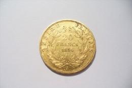JOLIE 20 FRS  OR  - NAPOLEON III  1854 A   - TTB/SUP  !!!  A Saisir - Oro