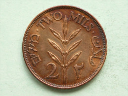 Palestine 1941 - TWO MILS / KM 2 ( Uncleaned Coin - For Grade, Please See Photo ) !! - Autres – Afrique