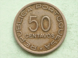 1936 - 50 Centavos / KM 65 ( Uncleaned Coin - For Grade, Please See Photo ) !! - Mozambique