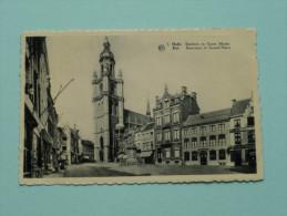 Basiliek En Grote Markt ( 5 ) Halle ( Albert / De Strijker ) Anno 19?? ( Zie Foto Voor Details ) !! - Halle