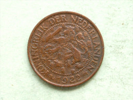 1922 - 1 Cent / KM 152 ( Uncleaned Coin - For Grade, Please See Photo ) !! - 1 Cent