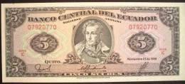 1988 Ecuador Banknote 5 Sucres UNC - Ecuador