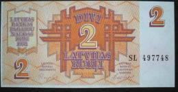 1992 Latvia Banknote 2 Rubli UNC - Latvia