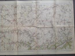 WAREMME-ST-TROND-GINGELOM-HANNUT-BRAIVES-CARTE TOPOGRAPHIQUE-LITHO-1933-L´INSTITUT CARTOGRAPHIQUE MILITAIRE-VOYEZ 2SCANS - Topographical Maps