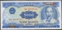Vietnam 1991 5000 Dong Banknote 1 Piece Electric Power - Vietnam