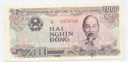 Vietnam 1988 2000 Dong Banknote 1 Piece Textile - Vietnam