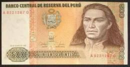 1987 Peru Banknote 500 Intis 1 Piece UNC - Pérou