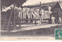 23524 Ecole De SAINT CYR -France - Séance De Gymnastique - Ed DL ?  Soldat Arcon Gymnaste Equilibre - Casernes
