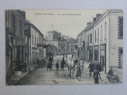 Ref2206 A - CPA Animée Pontchateau (Loire Atlantique) - La Rue De Saint Gildas - A. Loyer éditeur - Burban Pont-chateau - Pontchâteau