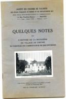 ILLE Et VILAINE - Quelques Notes Sur L'histoire De La Bouexière, Du Village De Chevré, Du Château ..par : O. LEROUX. - Bretagne