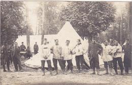 23528 Carte Photo, Retour Camp De Maisons Laffitte -france  1909 Militaire Soldat Officier Tente