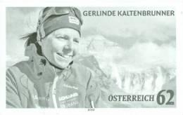 Austria Österreich 2012 - Gerlinde Kaltenbrunner Black Proof - 2011-... Unused Stamps