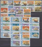 Penrhyn1981: HISTORICAL SHIPS Yvert139-78,184-6 Mnh** Pairs Cat.Value79,50Euros($110) - Penrhyn