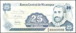 Nicaragua Banknote 25 Centavos  UNC 1 Piece - Nicaragua