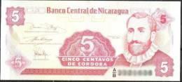 Nicaragua Banknote 5 Centavos  UNC 1 Piece - Nicaragua