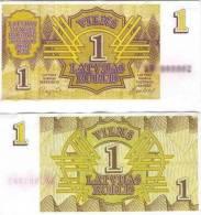1992 Latvia Banknote 1 Rublis UNC - Latvia