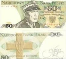 1988 Poland Banknote 50 Zlotych UNC - Poland