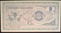 1992 Macedonia Banknote $10 UNC - Macedonia