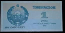 1992 Uzbekistan Banknote 1 Sum UNC - Uzbekistan