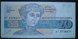 1991 Bulgaria Banknote 20 Leva - Woman  UNC - Bulgaria