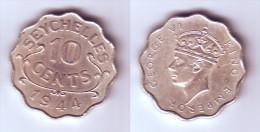 Seychelles 10 Cents 1944 - Seychelles