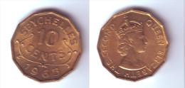 Seychelles 10 Cents 1965 - Seychelles