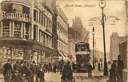 Pays Div-royaume Uni -united Kingdom  -ref B651- Church Street , Liverpool -carte Bon Etat  - - Angleterre