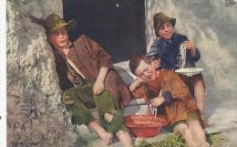 Verso La Fine Di Un Pasto Frugale - 1925    (140323/GH) - Napoli (Naples)