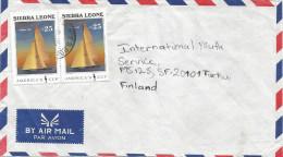 Sierra Leone 1990 Freetown America´s Cup Yachting Cover - Sierra Leone (1961-...)