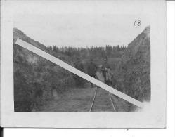 1916 Voie Réduite Decauville Train  Soldats Allemands 1 Photo 1914-1918 14-18 Ww1 WwI Wk - War, Military