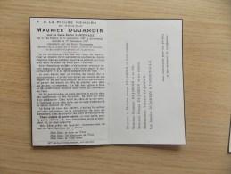 Doodsprentje Maurice Dujardin Ten Brielen 16/9/1887  - 1/12/1957 ( Berthe Vandewalle ) - Religion & Esotericism