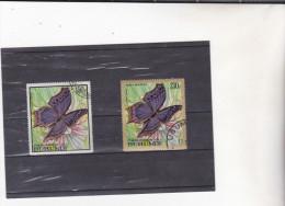 BURUNDI : Papillons : O : Y&T : 285-90PA - 1962-69: Usati