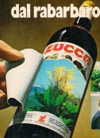 # 2 X RABARBARO ZUCCA 1960s Advert Pubblicità Publicitè Reklame Food Drink Liquor Liquore Liqueur Licor Alcohol Bebidas - Manifesti